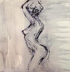 """"""" Cornélia's square"""" Aquarelle sur papier 20 x 20 cm By Miss Hélène Mignot"""