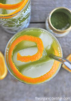 Orange Matcha Iced Tea 7