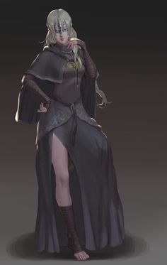 """""""ASHEN ONE, you can touch my darkness whenever you want"""" Arte Dark Souls, Dark Souls 2, Character Portraits, Character Art, Character Design, Fantasy Girl, Dark Fantasy, Fantasy Characters, Female Characters"""