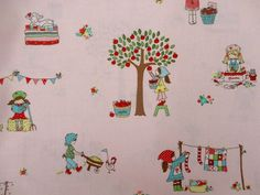 Tasha Noel for Riley Blake Fabric - 1/2 Metre The Simple Life, Main in Pink. $7.75, via Etsy.