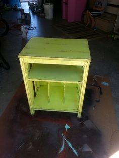 Antique record player stand