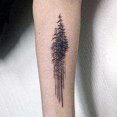 Pine tree나무들 more tree tattoo meaning, tree tattoo men, pine tattoo Pine Tattoo, Schallwelle Tattoo, Tree Tattoo Arm, Inner Forearm Tattoo, Forearm Tattoo Design, Tattoo Life, Body Art Tattoos, Sleeve Tattoos, Raven Tattoo
