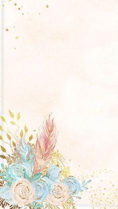 Flower Background Wallpaper, Cute Wallpaper Backgrounds, Flower Backgrounds, Cute Cartoon Wallpapers, Handy Wallpaper, Framed Wallpaper, Iphone Wallpaper, Molduras Vintage, Mermaid Wallpapers