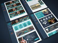 Webdesign pro Fitness a Bodybuilding trenéra Aleše Lamku http://www.aleslamka.cz/