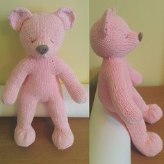 knittingkot:: Making this teddy bear for my friend's baby girl took me ages…