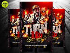 Turn Up Flyer Template PSD by Industrykidz