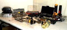 Junk Drawer Lot Of Sockets Tools CB Flashlights Wireing Mic. 25 Lbs  #unidan