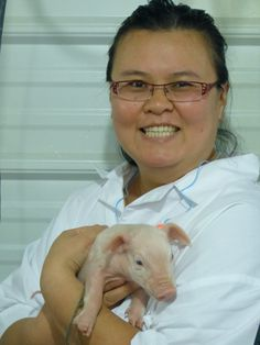 Thien-Kim with Piglet-I'm Not the Nanny