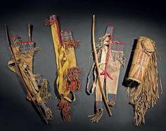Amérique du Nord Carquois, arc et flèche Indiens Sioux, Plaines, Ét