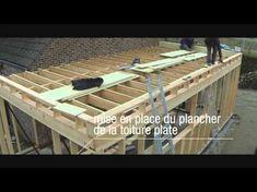 Construction d'une extension d'habitation en bois Une vidéo qui vous montre la mise en place d'une extension en bois pour une habitation type villa quatre fa...