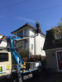 We use a cherry picker to install our liners as it provides a safe and efficient way to access the roof and drop the liner down. Cherry, Drop, Train, Strollers, Trains