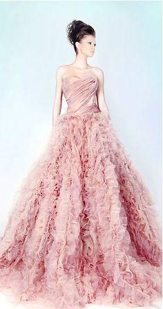 Rami Kadi pink wedding gown