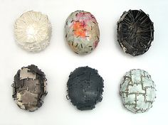Mirjam Hiller, Germany, Brooches stapled group, 2006