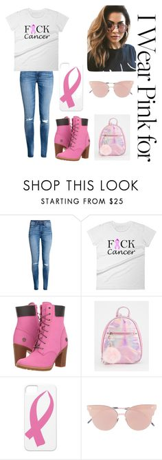 """""""We Wear Pink On Wednesday's"""" by jade-mcarthur24 ❤ liked on Polyvore featuring H&M, Timberland, So.Ya and MINKPINK"""