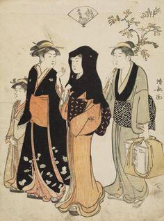 """The Third Month"". Woodblock print. 1786, Japan, by artist Torii Kiyonaga."