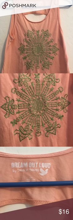Tank with Embroidery Design - Selena Gomez Tank Like new! DREAM OUT LOUD Selena Gomez Tops Tank Tops