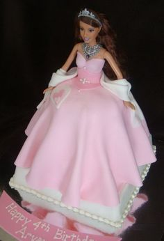 pink barbie birthday cake Barbie Cake Ideas Decoration