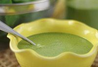 3 cups spinach, packed 1 cups water 3/4 cups fresh orange juice 1 zucchini, chopped (3/4 – 1 cup) 1/3 – 1/2 cup hemp oil 1 clove garlic 1 1/2 tablespoons garlic red pepper miso 1 teaspoon apple cider vinegar 1 – 2 teaspoons raw agave nectar 1 tablespoon dried basil 1 1/2 teaspoons dried...