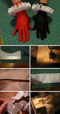 Harley Quinn Costume Wrist Ruffles.