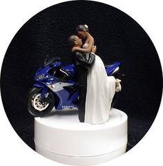 Custom Dirt Bike Kissing Couple Topper In 2018 Wedding Stuff
