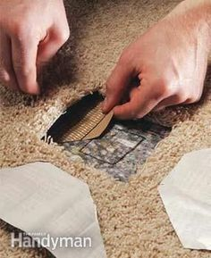 DIY Money Saving Home Repairs • Tutorials, including how to repair damaged carpet by 'Family Handyman'!