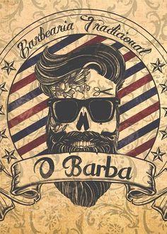 Barber Shop Neo Gothic Sticker - Sticker Barber Shop Neo Gothique