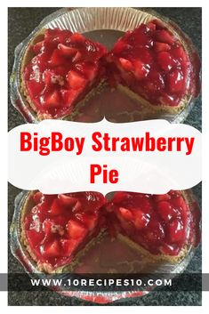 Strawberry pie - 2 pkg strawberry gelatin 1 baked 9 inch pie shell, cooled Whipped topping Instructions Blend together cornstarch and sugar Combine in saucepa Shoneys Strawberry Pie, Strawberry Desserts, Big Boy Strawberry Pie Recipe, Strawberry Pie Fillings, Stawberry Pie, Fresh Strawberry Recipes, Pie Dessert, Dessert Recipes, Fudge Recipes