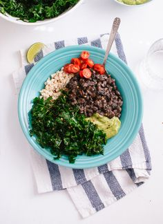 Kale, Black Bean and Avocado Burrito Bowl - Cookie and Kate