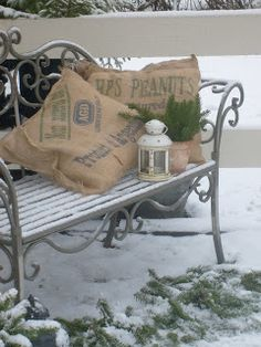 1000 Images About Outdoor Bench Christmas Decorating On