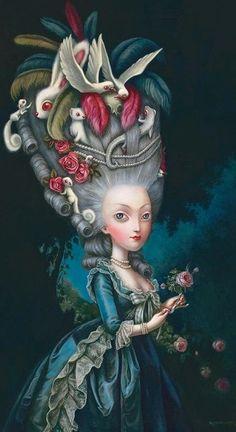 Benjamin Lacombe, Marie Antoinette à la Rose, 2015.