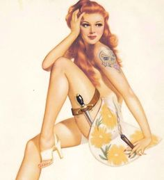 dont mess with the redhead! #redhead #pinup