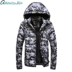 Grandwish Camouflage Parkas Men Winter Jackets Plus Size 5XL Padded Hooded Parkas Mens 2017 New Thick Coat Men with Hood,DA388