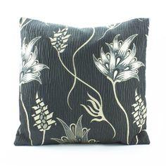 Black Euro Sham throw Pillow Cover 26 x 26 inch sham by Fabricasia