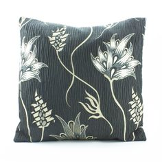 Textured Decorative throw Pillow Cover 18x18 inch,Cotton Silk Pillow in Black Gold,Accent Pillow Sofa Pillow Couch Pillow Designer Pillow.