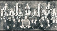 Newcastle United's 1910 FA Cup winning team