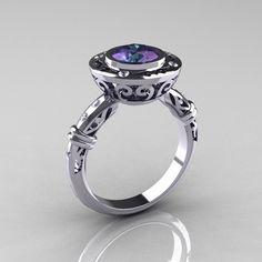 Antique Engagement Rings Alexandrite 10