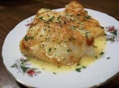 Lemon Butter Baked Cod Recipe. This would be good with capers too