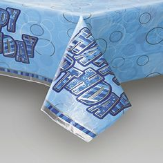 Glitzy Blue Table Cover - Boys Birthday Party Supplies & Party Themes Online in India
