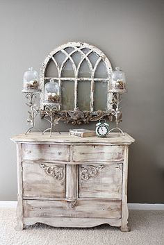 Tablescape; shabby chic accessories;
