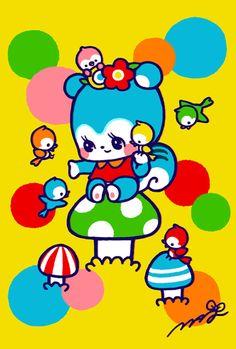 marron-nagao on DeviantArt Japan Illustration, 80s Cartoon Shows, Food Graphic Design, Mantecaditos, Kawaii Art, Vintage Japanese, Pattern Wallpaper, Cute Wallpapers, Art Inspo