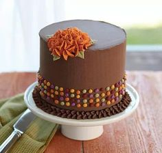 Beautiful cake perfect for Thanksgiving or Autumn gathering    Bake     Learn how to decorate cakes and sweet treats with basic buttercream  techniques and six simple to pipe flowers that transform ordinary cakes  into