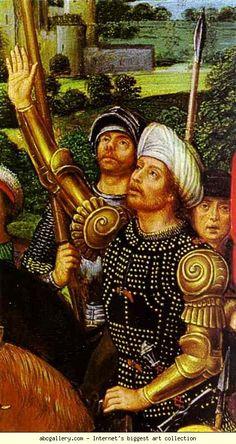 Hans Memling. Crucifixion. Detail. Olga's Gallery.
