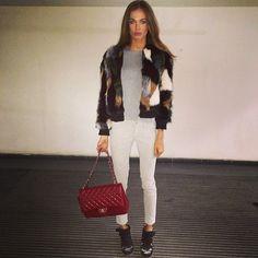 Masha Trotsko Masha Trotsko, Jet Set, White Jeans, Winter Fashion, Street Style, Lifestyle, Chic, Lady, Pants