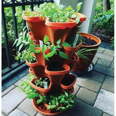 Mr. Stacky 12 in. x 5.5 in. Terracotta Plastic Vertical Stackable Planter (5-Pack)