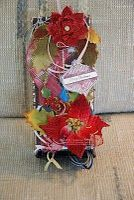 JustRite Entry # 14 Jackie Smith - altered q-tip box - autumn theme - gift box with gift tags.