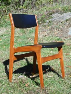 Vintage Danish Mid Century Modern Teak Office Dining Chair Dyrlund Denmark MCM #DanishModern #Dyrlund