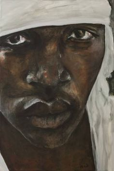 Buy Fortune seeker or son of hope (3), a Oil on Canvas by evadi Eva van Diepen from Netherlands. It portrays: People, relevant to: social, world, africa, human, fortune seeker, sun of hope Many people are forced to dare their lifes hoping for  a better future. Many individuals, all with their own story, family and friends. I pay special attention to some of them by presenting  their faces on large paintings. They are someone, they are people.