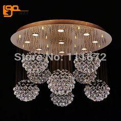Nueva LED lámpara cristalina moderna iluminación lustre vestíbulo del hotel luz de diámetro 80 cm