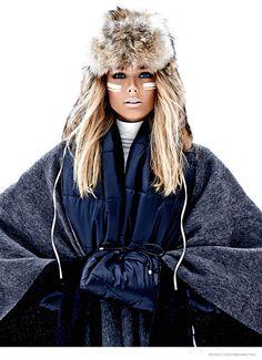 Snow fashion editorial for Bazaar Czech by Benedikt Renc