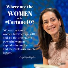 The sweet spot for women in business? Age 40-44. #FortuneMPW #Fortune40 #womeninbusiness #inspiration #makingmoves #careeradvice